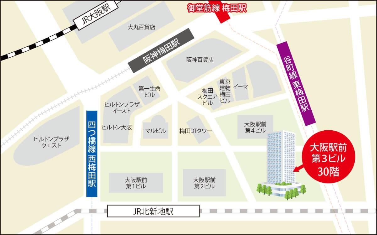大阪・梅田MAP